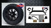 Ezgo Txt Electric Golf Cart 6 Lift Kit + 14 Voodoo Wheels And 23 At Tires