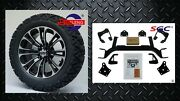 Ezgo Txt Electric Golf Cart 6 Lift Kit + 14 Vector Wheels And 23 At Tires