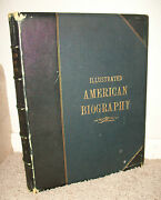 Illustrated American Biography D. I. Nelke 1895 1st Ed Leather Large Book
