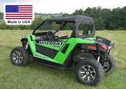 Roof And Rear Window Combo For Arctic Cat Wildcat Trail - Commercial Heavy Duty