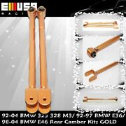 Rear Lower Control Arms/bar/rod Camber Kit 95-05 Bmw E46/e36/z4/m3 3-series Gold