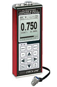 Data-logging Coating And Wall Thickness Gauge W/ Transducer Range 0.025 - 9.999 In