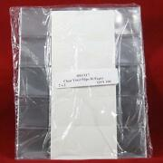 400 2 X 2 Heeco 7 Double Pocket Vinyl Coin Flips With Paper Inserts