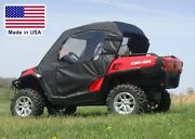 Can Am Commander Doors And Rear Window - Soft Material - Puncture Proof