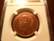 G.britain- Joint Finest Ever Graded Better Date 1932 Penny Ngc Cert-ms65rb