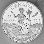 2013 25 Canada An Allegory Andndash 1 Oz. Pure Silver Coin Andndash Iconic Andldquomiss Canadaandrdquo