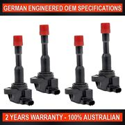 4 X Ignition Coil For Honda Civic Hybrid 1.3l For Honda Jazz 1.3l Exhaust Side