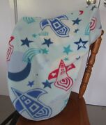 Horse Saddle Cover Blue Rocket Print And Free Embroidery Aussie Made Protection