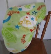 Horse Saddle Cover Green Rocket Print And Free Embroidery Aussie Made Protection
