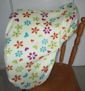 Horse Saddle Cover Lemon Flowers Hearts And Free Embroidery Aussie Made Protection