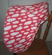 Horse Saddle Cover Orange And White Clouds+ Free Embroidery Aussie Made Protection
