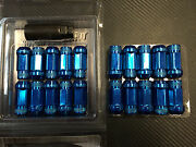 1320 Performance Blue 14x1.5 Steel Extended Lug Nuts M14 X 1.5 20 Pcs Forged