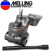 New Melling Stock Oil Pump And Shaft 1993-2002 Chevy Sb 350 305 265 With 3/4 Inlet