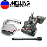 New Melling Oil Pump, Pickup And Shaft 1993-2002 Chevy Sb 350 305 265 W 3/4 Inlet