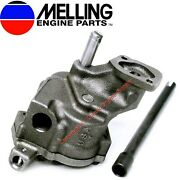 New Melling High Volume Oil Pump And Drive Shaft Chevy Bb 366 396 402 427 454 496
