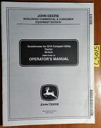 John Deere 46 Snowthrower 10001- For 2210 Compact Tractor Operator Manual 10/02