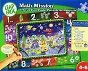 Leap Frog Prek Learning Lot Math Mission + 6 Puzzles Alphabets New