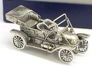 Circa Early 1970and039s Franklin Mint Sterling Silver 1911 Stanley Steamer With Box