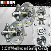 2 New Rear Left And Right Wheel Hub And Bearing Assembly Pair