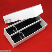 50 Silver Eagle Black Ring Airtite Coin Holders With 16 Xlg Capsule Storage Box