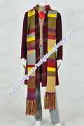 Who Cosplay Doctor 4th Fourth Dr Tom Baker Costume Various Styles Available