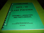Drawer 16 Sunflower 6211 13' Land Finisher Assembly Operators Parts Manual