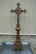 + Beautiful Traditional Altar Cross + Vintage + 38 Tall + Chalice Co. 1032