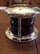 Antique Soup Can Boat Bow Light Nickel Plated Jan 15 Pre War