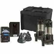 Ion 35aci Max Deluxe Battery Backup Sump Pump System 3000 Gph @ 10and039