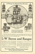 Columbus, Oh. L-w Stoves And Ranges, Vintage 1907 Antique Print Ad
