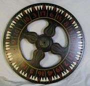 Vintage Carnival Game Wheel Of Chance Amazing Colors