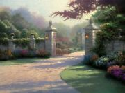 Summer Gate Pp Cnv 30x40 Thomas Kinkade Also Get A Free Tk Limited Edition