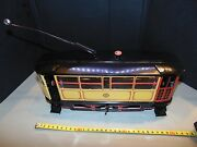 Vintage 1923 Tram Lithography Tin Toy 1993 Repro Paya 849 Rare Large Scale