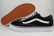 Old Skool Black/white Low Suede Canvas Classic Skate Sk8 Us Mens Sizes