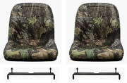 John Deere Gator Pair 2 Camo Seats Fit Cs And Cx With Bracket To Tip Forward