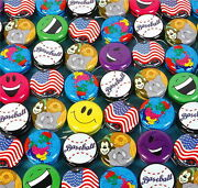 Lot Of 30 Two Inch Metal Yo Yo Yos Assorted Designs Party Favor Birthday Gifts