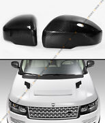 For 13-17 Range Rover L405 Blk Carbon Fiber Side Mirror Cover Caps Overlay Pair