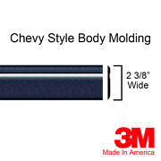 Chevy S-10 And S10 Blazer Black/chrome Body Trim Side Rocker Molding - By The Foot