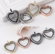 New Fashion Living Memory Magnetic Peach Heart Floating Lockets Pendant Charms