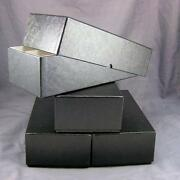 4 Black Double Row Cardboard Coin Slab Storage Boxes For Ngc Pcgs And Other Slabs