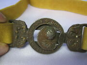Wwi British Officers Belt And Buckle / Honorable Artillery Company / Great Piece