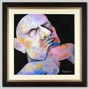 The Contender By Arbe Original Oil Painting Hand Signed Custom Framed W/coa