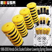 For Honda Civic 88-91/92-95/96-00coilover Lowering Coil Springs Set Yellow/black