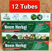 12 Tube Neem Herbal Toothpaste By Al-falah Power 7 Fluoride Free And Vegetable Bas