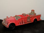 Auburn Red Rubber Fire Truck 2 500 On Back And Front Fender Plate Area 9099