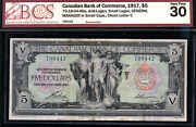 The Canadian Bank Of Commerce 1917 5 Scarce