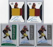 2015 Leaf Trinity Nelson Agholor Green Pure Glass Auto Rc 4/10 Wr Usc Eagles