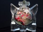Chinese Carved Crystal Inner Painting Snuff Bottle Depicting Children