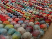 Sumi Chunky Bobble Rugs 100 Wool Colourful And Vibrant 3 Sizes