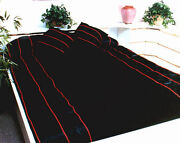 Premium Bridal Satin And Velvet Bedspread With Accent Piping All Sizes Available